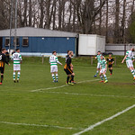 Glenn Murison (far left) curls in Huntly's equaliser