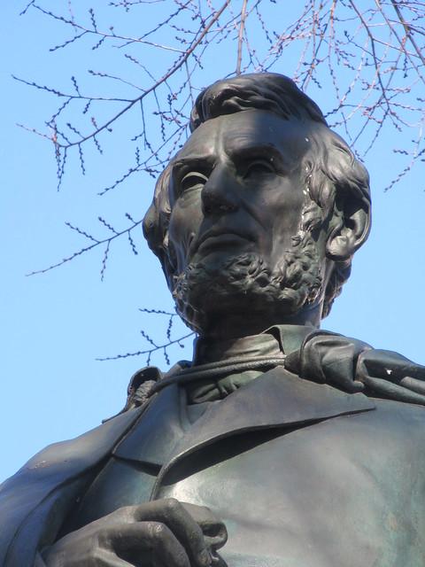 President Abraham Lincoln Bronze statue Union Square Park 1546
