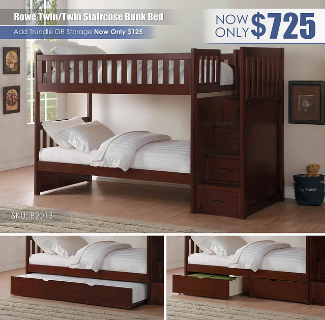 Rowe Twin over Twin Staircase Bunk Bed_B2013