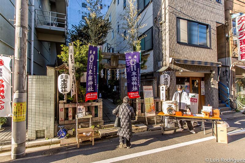 Pequeño santuario Suehiro en Año Nuevo