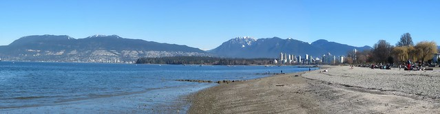 Kits Beach spring break panorama