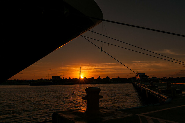 Docked as the sun rises in Cozumel - Mexico