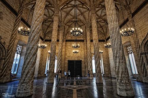 Lonja de la Seda (Hall of Columns). Valencia