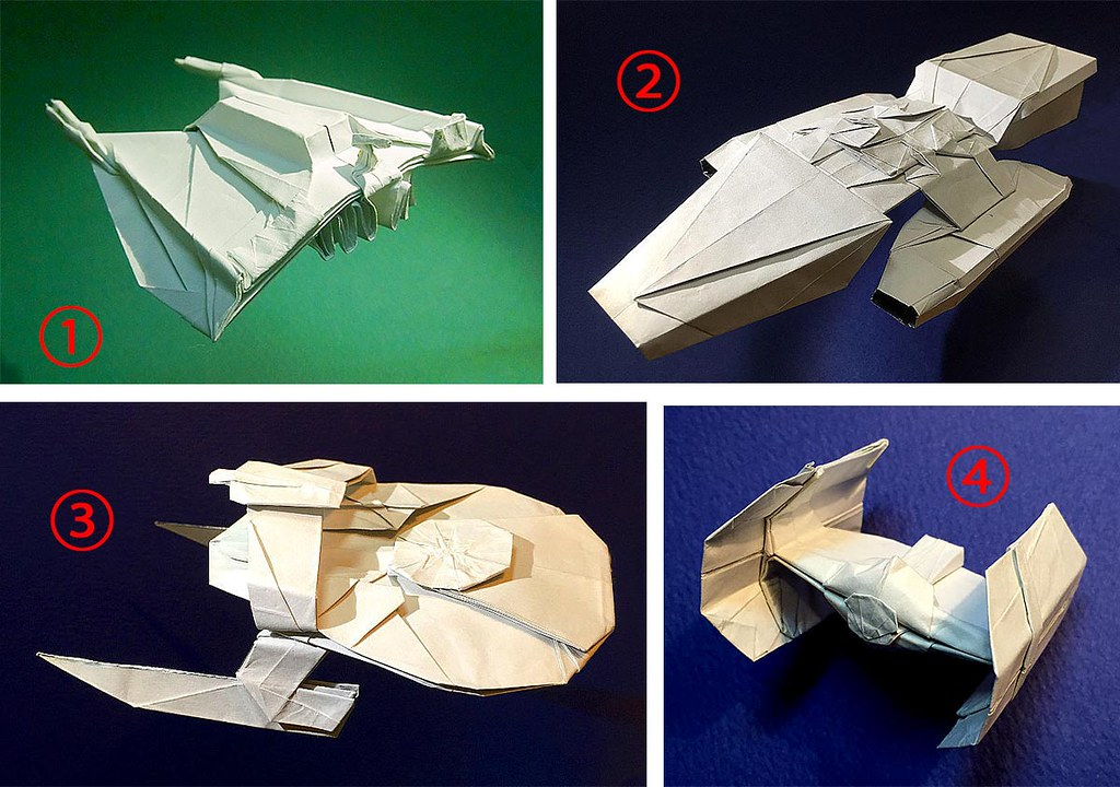 VOTE On Twitter: Which Origami Spaceship Do You Want For M… Flickr