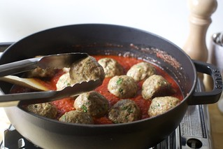 add meatballs   by smitten kitchen