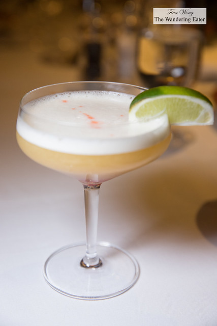 Oscar Naimo's Macarthur - Bacardi Facundo Eximo Neo Rum, Cointreau, fresh lime, egg white