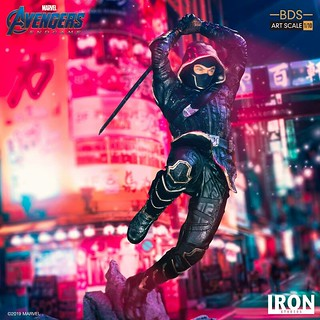 奮力一躍,揮刀劈砍的帥氣姿態!! Iron Studios Battle Diorama 系列《復仇者聯盟:終局之戰》浪人 Ronin 1/10 比例決鬥場景雕像作品