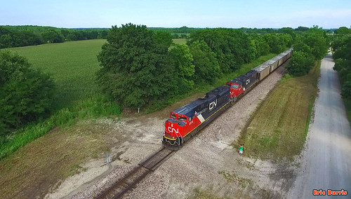 bnsf trains railroads cn canadiannational dronephotos