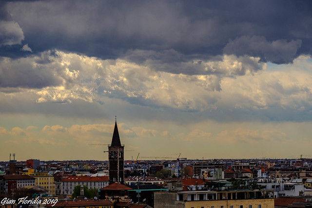 Sunny clouds over Milan