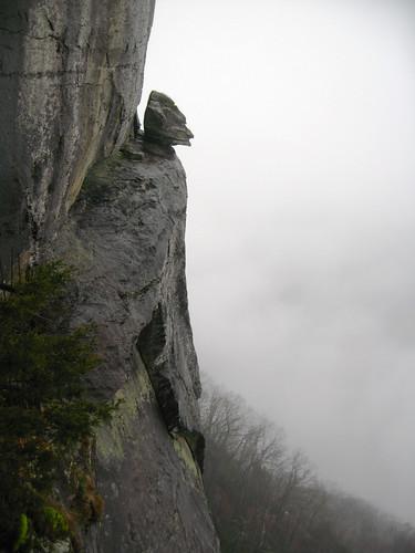 landscape scenic attracttion rocks cliffs northcarolina fog mist nebel