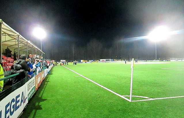 Park Hall Stadium, Oswestry, Pitch and East terracing