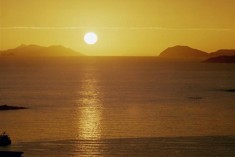 Sunset over Dubrovnik bay