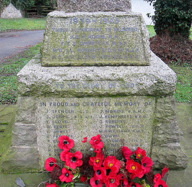 Llanymynech War Memorial Dedications