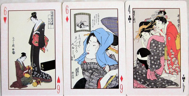Ukiyo-e beauties playing cards 0085