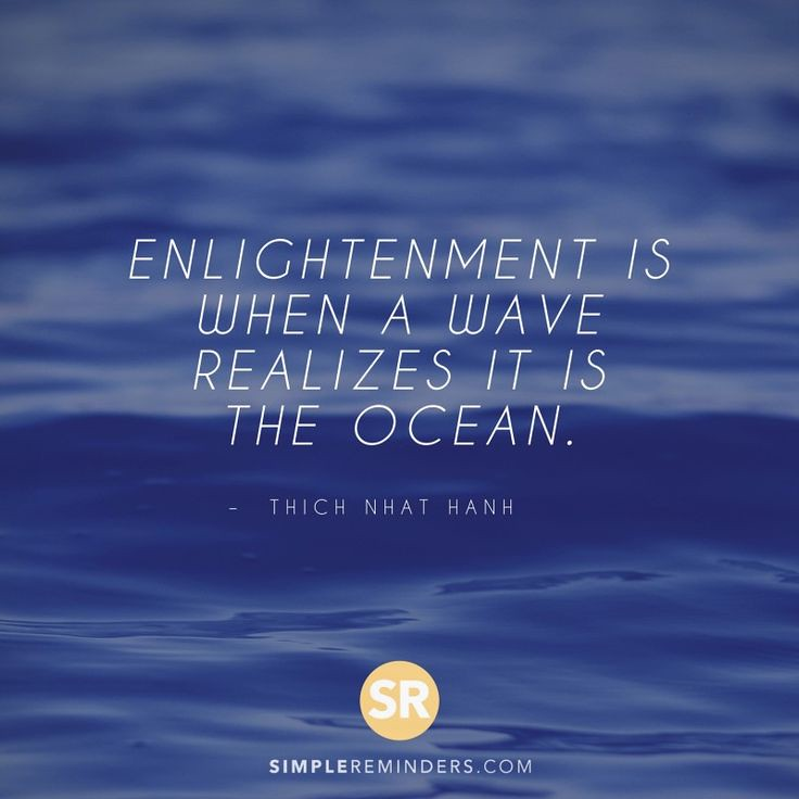 Wisdom Quotes Thich Hanh Enlightenment Wave Ocean 3e9t Flickr