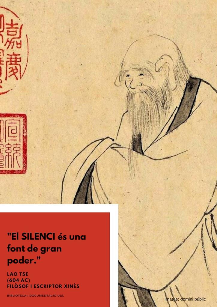 «El SILENCI és una font de gran poder» Lao Tse (604 AC)