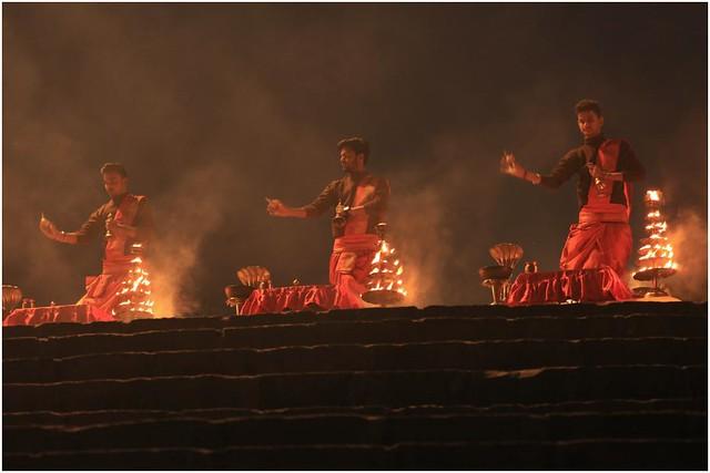 India Travel Photography: Aarti Ceremony, Nada Sadhus & burning Ghats at Varanasi 2019 Benares.007 by Hans Hendriksen