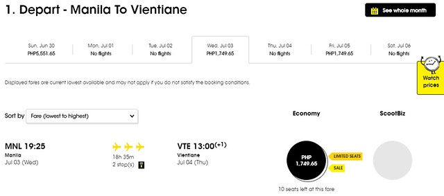 Scoot Airlines Manila to Vientiane Promo