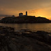 Nubble Lighthouse in the Gold by Ken Krach Photography