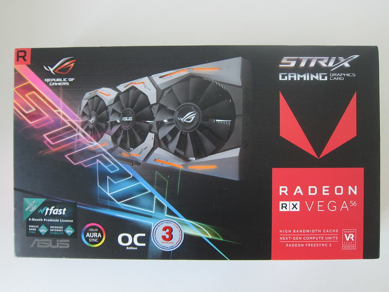 Asus ROG Strix RX VEGA56 OC Edition 8GB - Box Front