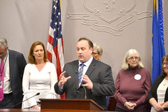 State Rep. Brian Lanoue (R-Griswold, Lisbon, Plainfield, Sterling, Voluntown) spoke in support of places like the Women's Center of Eastern Connecticut, which offers services to pregnant women. He also voiced his opposition to H.B. 7070, which he says will place an unnecessary mandate on these facilities, non of which receive state funding.