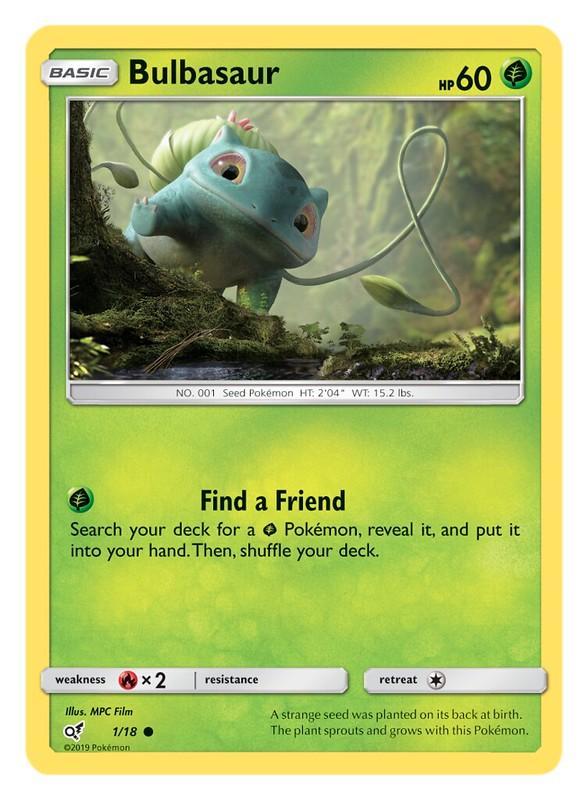 Pokémon TCG Detective Pikachu_Bulbasaur