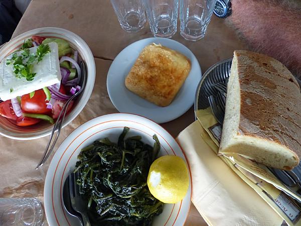 déjeuner au Lesbos