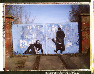 Clarence Clemons and Johnny Cash by Jef Aerosol (Marquette Lez Lille)