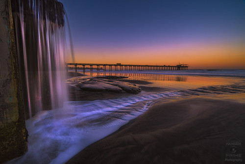 scripps scrippspier pier sunrise reflection morning beach sand water ocean pacific lajolla california sky landscape tide waves nature colorful sandiego waterfall