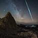 Fireball over Northern Ireland Coast by Patryk Sadowski