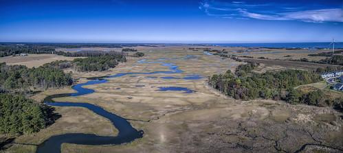 delawarebay greatmarsh dji canarycreek lewesde wetlands drone