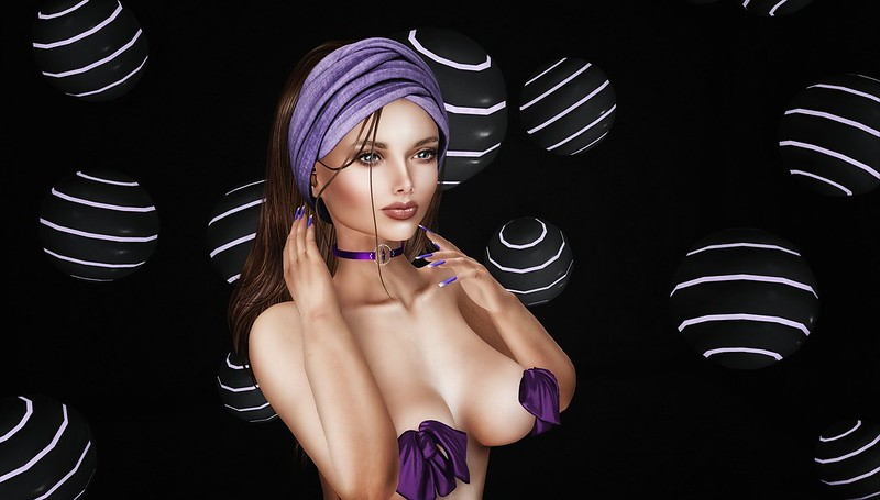Spheres and a touch of purple