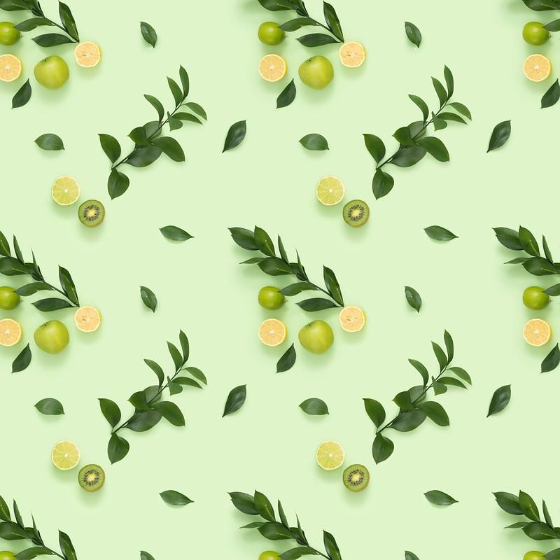 Обои листья, ветки, фон, киви, цитрус картинки на рабочий стол, раздел цветы - скачать