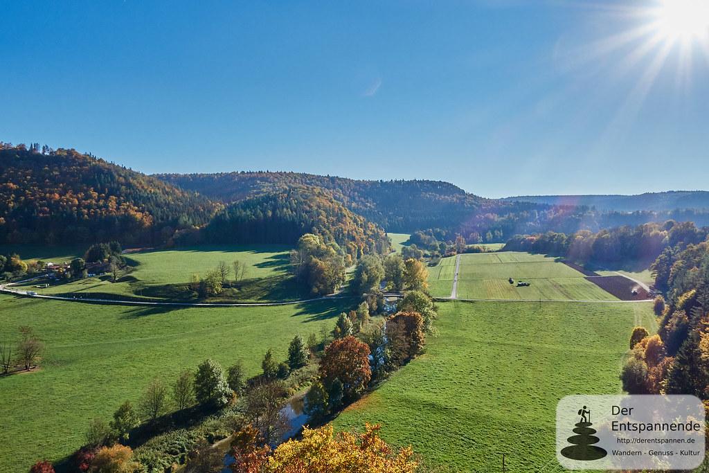 Blick vom Aussichtspunkt Lugen ins Donautal