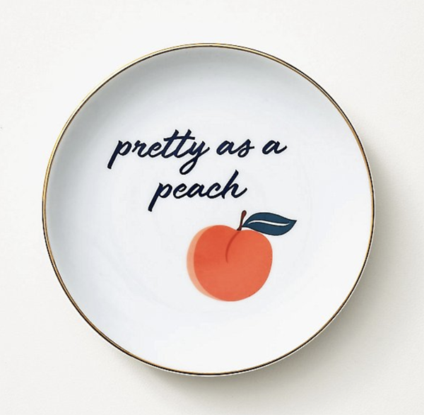 peach trinket tray