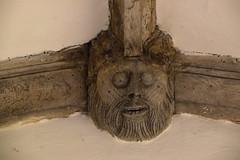 porch head (15th Century, wooden)