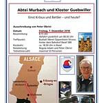 Dezember 2018: Abtei Murbach und Kloster Guebwiller
