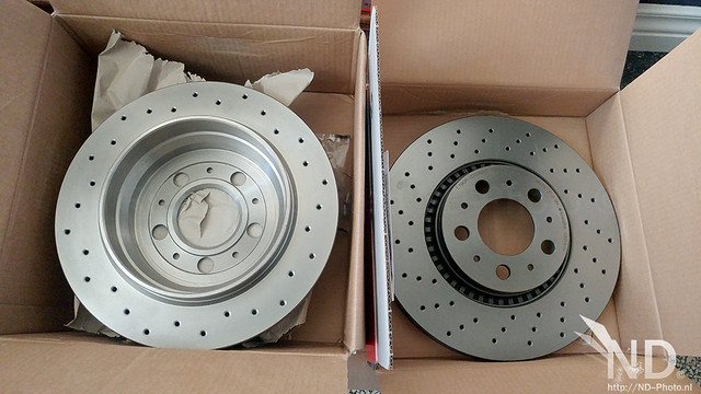 Volvo S80 2.4T Brembo Xtra Line Drilled Brake Discs