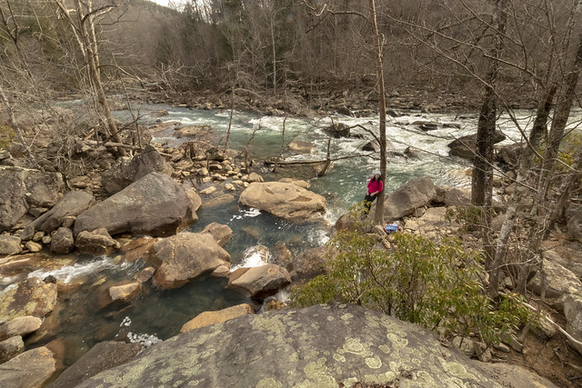 Leanne Lipps, Confluence of Clifty Creek and Caney Fork River, Bridgestone Firestone Centennial Wilderness WMA, White County, Tennessee 1