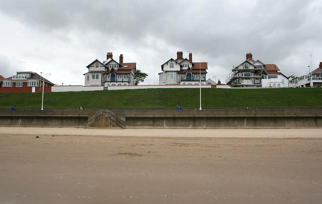 Houses on the cliffs at Bridlington