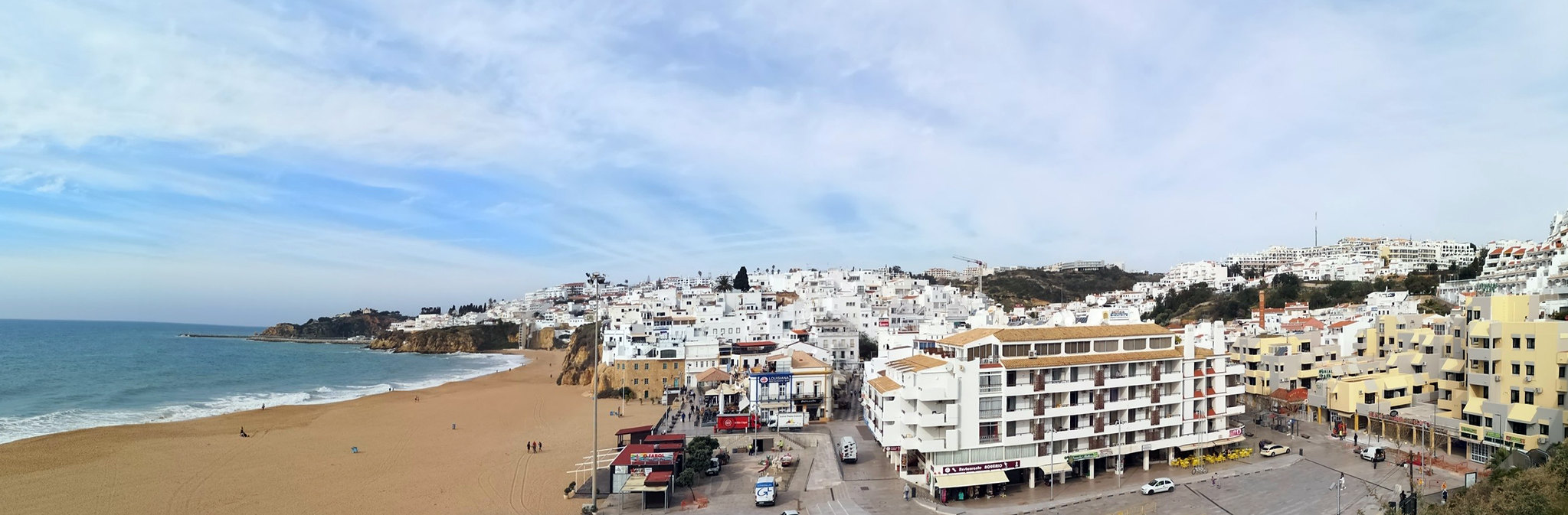Albufeira Playa de los Pescadores Algarve Portugal panoramica