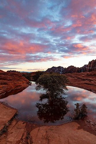 utah snowcanyon statepark sunset reflection water petrifiedsanddunes clouds sunsetcolor jamesmarvinphelps jamesmarvinphelpsphotography soe