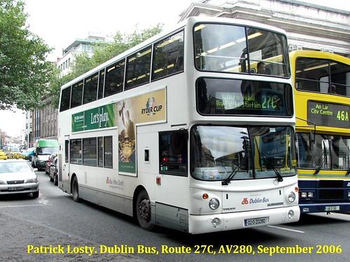 Route 27c Leeson Street Bridge To Clare Hall Dublin Bus
