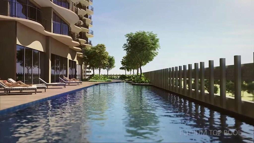 hồ bơi Waterina Suites kiến trúc sáng tạo