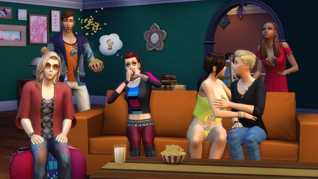 The Sims 4 Noite de Cinema Chegando aos Consoles