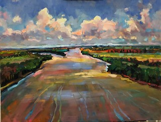 """""""Mississippi and the Salt River near Louisiana, MO"""" - Jane Mudd   by river.relief"""