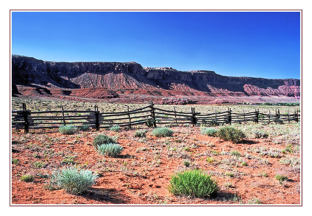 Utah Fenceline in Red Rock Country - 1989