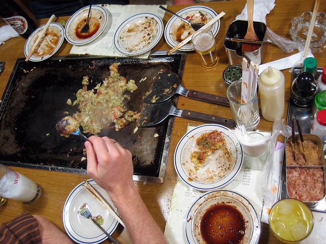 Okonomiyaki table