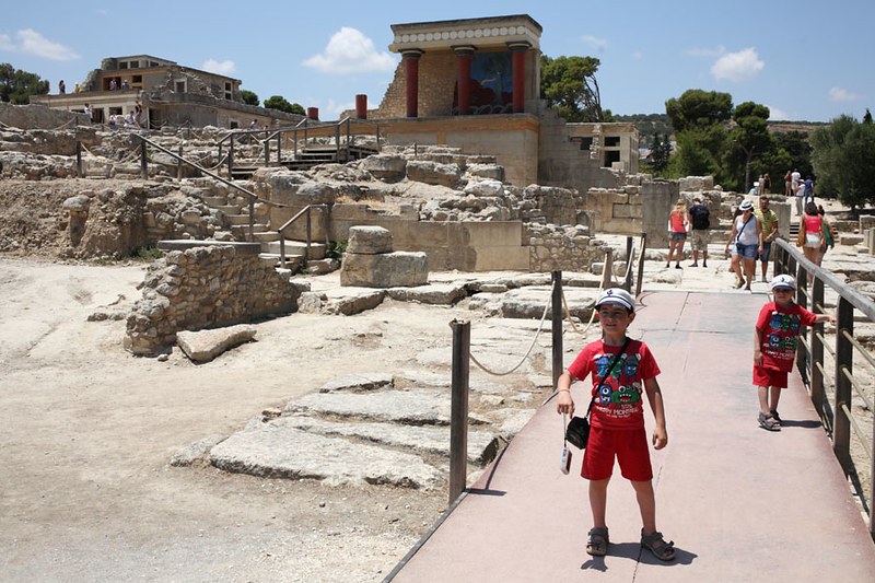 At the Minos Temple in Crete