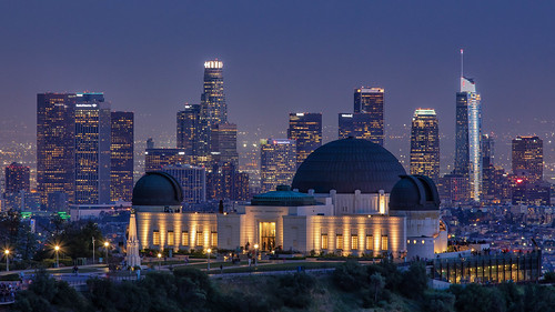Griffith Observatory at dusk, Los Angeles, California, USA